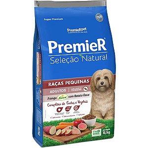Premier Pet Seleção Natural Cães Adultos Raças Pequenas Frango Korin com Batata Doce 10,1 Kg