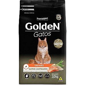Golden Formula Gatos Castrado Salmão 3Kg