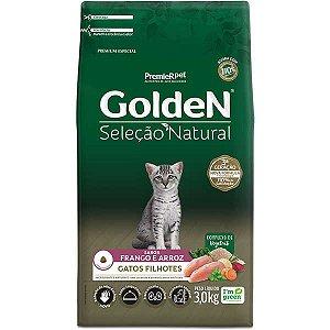 Golden Seleção Natural Gatos Filhote 3Kg