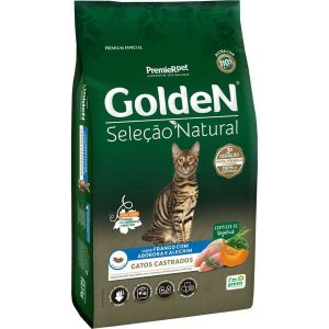 Golden Seleção Natural Gatos Adulto Castrado Abóbora 1Kg