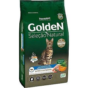 Golden Seleção Natural Gatos Adulto Castrado Abóbora 10Kg