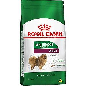 Royal Canin Mini Indoor Adult para Cães Adultos de Raças Pequenas com 10 Meses ou mais 7,5KG