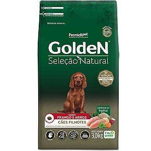 Golden Seleção Natural Cães Filhote 3Kg