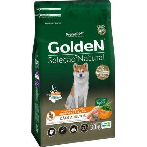 Golden Seleção Natural Cães Adulto Abóbora 3Kg