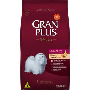 GRAN PLUS MENU ADULTO MINI FRANGO E ARROZ 15KG