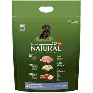GUABI NATURAL CÃES LIGHT MINI PEQUENO PERU E AVEIA 2,5KG