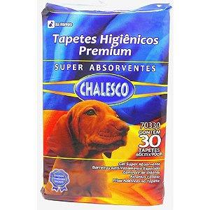 TAPETE HIGIÊNICO CHALESCO COM 30 UNIDADES