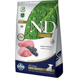 N&D Prime Cordeiro e Blueberry Cães Filhotes Raças Pequenas 800G