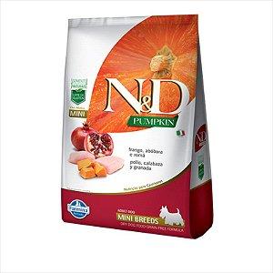 N&D Pumpkin para Cães Adultos Raças Mini sabor Frango, Abóbora e Romã 800G