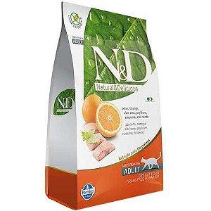 N&D Grain Free para Gatos Adultos Sabor Peixe e Laranja 400G