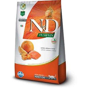 N&D Pumpkin Salmão, Abóbora e Laranja para Gatos Adultos 400G