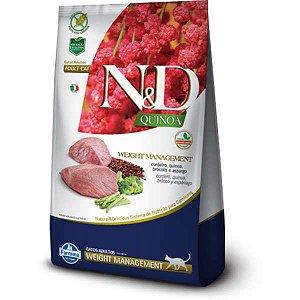 N&D Quinoa Weight Management Cordeiro para Gatos Adultos 1,5KG