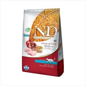 N&D Ancestral Grain Frango Gatos Adultos Castrados 1,5KG