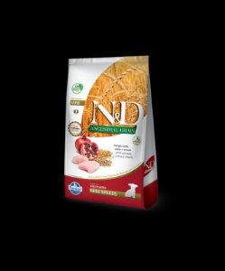 N&D Ancestral Grain Frango E Romã Para Cães Adulto De Raça Pequena 800G