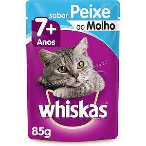 WHISKAS ADULTO SACHE 7+ PEIXE/PESCADO AO MOLHO 85G
