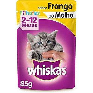 WHISKAS SACHE FILHOTES FRANGO - 85G
