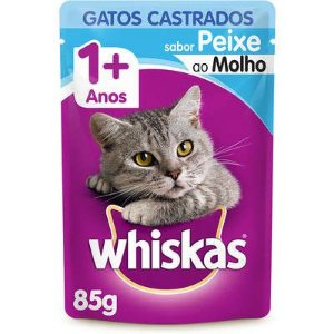 WHISKAS SACHE CASTRADO PEIXE 1+ 85G