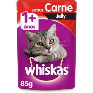 WHISKAS ADULTO SACHE CARNE JELLY 85G