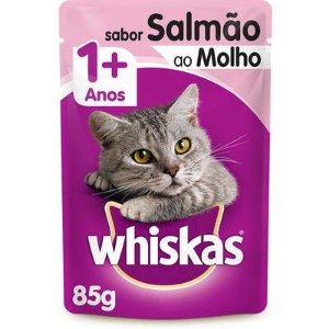WHISKAS SACHE SALMÃO - 85G