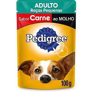 PEDIGREE SACHE ADULTO CARNE RAÇAS PEQUENAS 100G