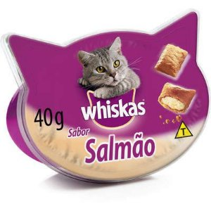 WHISKAS TEMPTATIONS SALMÃO - 40G