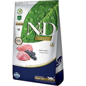 N&D Prime Cordeiro e Blueberry Gatos Adultos 1,5KG