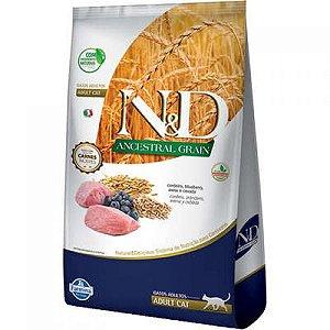 N&D Ancestral Grain para Gatos Adultos Sabor Cordeiro e Blueberry 400G