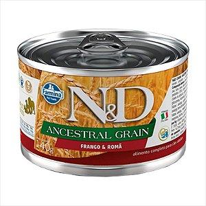 Lata N&D Ancestral Grain Frango & Romã para Cães Adultos 140G