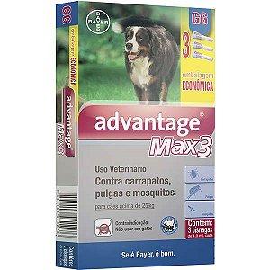 Advantage Max3 (4,0 ML) COMBO Acima de 25Kg