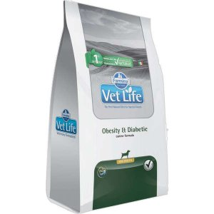 Vet Life Natural Obesity e Diabetic para Cães Mini 2KG