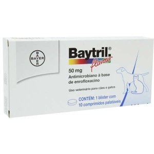Baytril Flavour - 50 Mg 10 Comprimidos