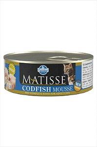 Lata Matisse para Gatos Mousse Bacalhau 85G