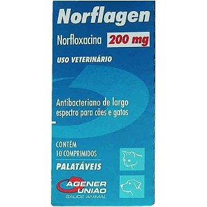 Antibacteriano Norflagen 200MG - 10 Comprimidos