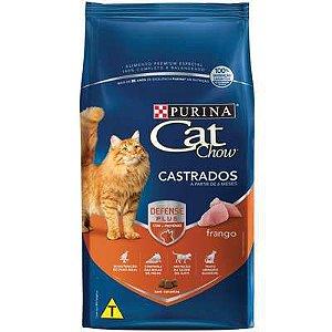 RAÇÃO CAT CHOW GATOS CASTRADO FRANGO 1KG
