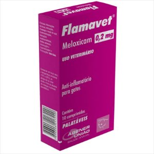 Flamavet Agener União para Gatos 10 comprimidos - 0,2 MG (Cartela)