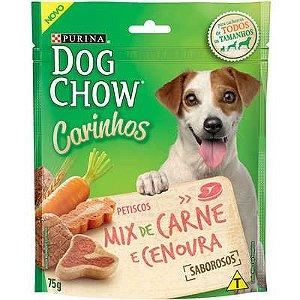 DOG CHOW CARINHOS MIX CARNE E CENOURA 75G