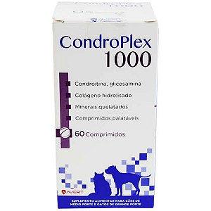 Suplemento Alimentar Avert CondroPlex 1000 para Cães e Gatos de Médio e Grande Porte 60 Comprimidos