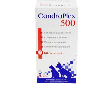Suplemento Alimentar Avert CondroPlex 500 para Cães e Gatos de Pequeno Porte 60 Comprimidos