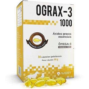 Suplemento Avert Ograx-3 para Cães e Gatos 30 Cápsulas 1000 MG