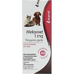 Anti-Inflamatório Meloxivet 10 comprimidos para Cães e Gatos de Pequeno Porte 1MG