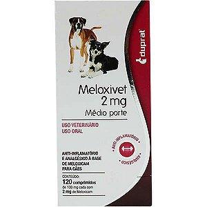 Anti-Inflamatório Duprat Meloxivet 120 Comprimidos para Cães de Médio Porte 2MG