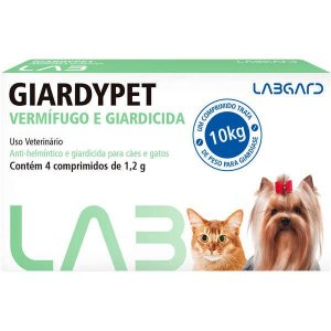 Vermífugo Labgard Giardypet para Cães e Gatos Com 4 Comprimidos
