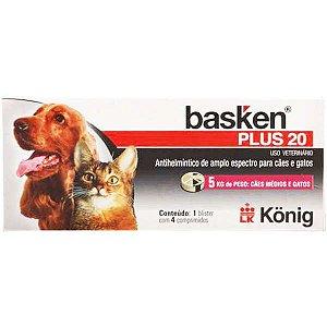 Antiparasitário Basken Plus 20 4 comprimidos