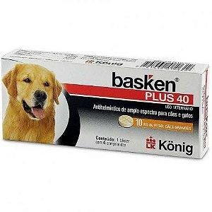 Antiparasitário Basken Plus 40 Com 4 comprimidos