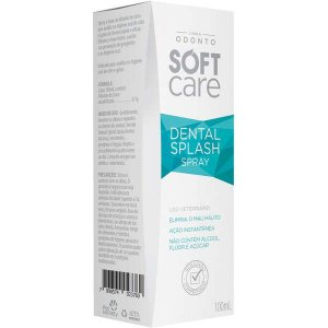 Antisséptico Pet Society Soft Care Bucal Dental Splash para Cães e Gatos 100ML