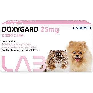 Antimicrobiano Labgard Doxygard 25MG para Cães e Gatos de Raças Mini 12 Comprimidos