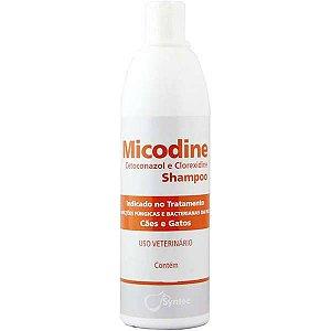 Micodine Shampoo Syntec Cetoconazol e Clorexidine para Cães e Gatos 500ML