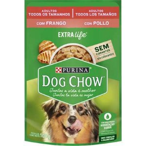 SACHÊ DOG CHOW ADULTO FRANGO E ARROZ 100G