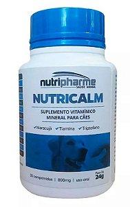 Nutricalm Suplemento Nutripharme Para Cães 30 Comprimidos