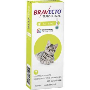 BRAVECTO TRANSDERMAL 1,2 A 2,8KG GATOS 112,5MG